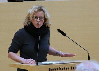 Natascha Kohnen, SPD-Landtagsabgeordnete am 2. Februar 2016 im Bayerischen Landtag
