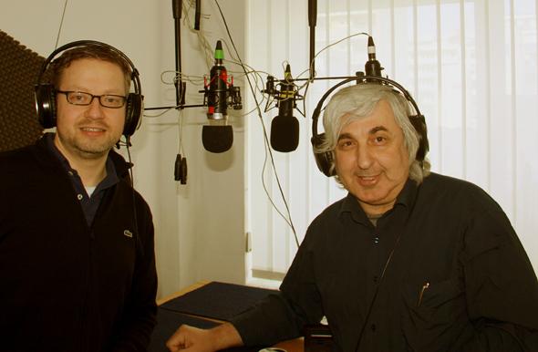 Lars Mentrup (li.) und Zeki Genç im LORA-Studio