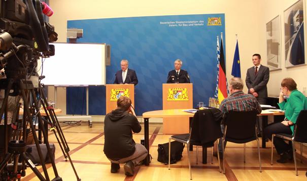 Pressekonferenz im Bayerischen Innenministerium